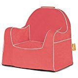 LITTLE READER CHAIR CORAL WITH WHITE PIPING