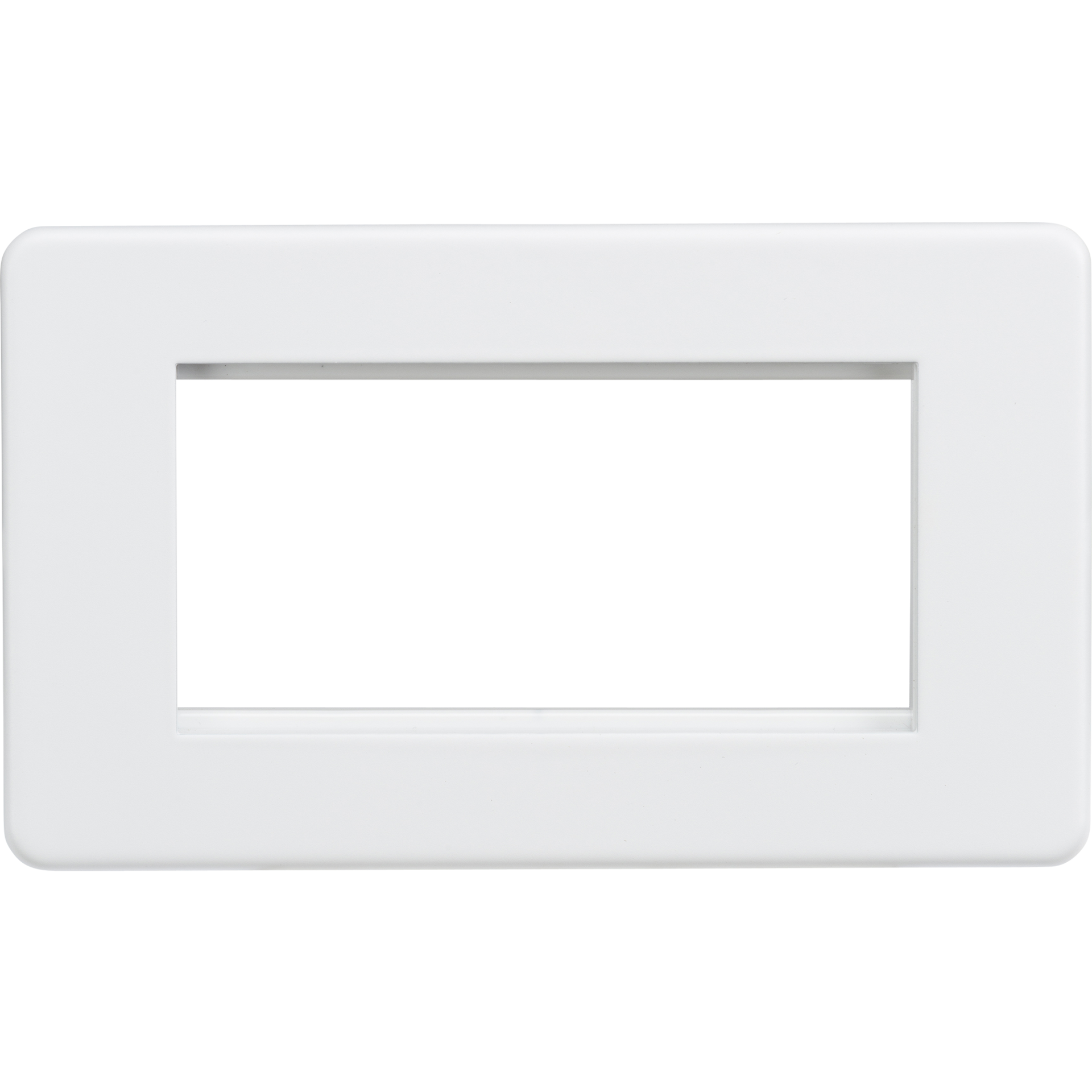Screwless 4G modular faceplate - Matt white