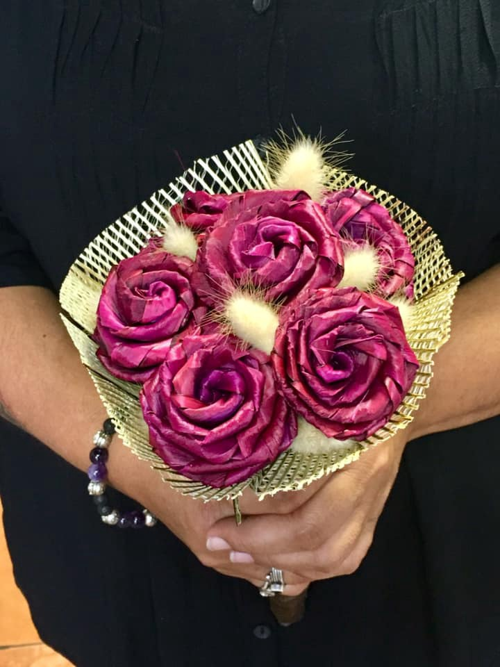 Flax Rose Bouquet
