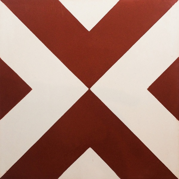 Handmade Tile | Red White Arrows
