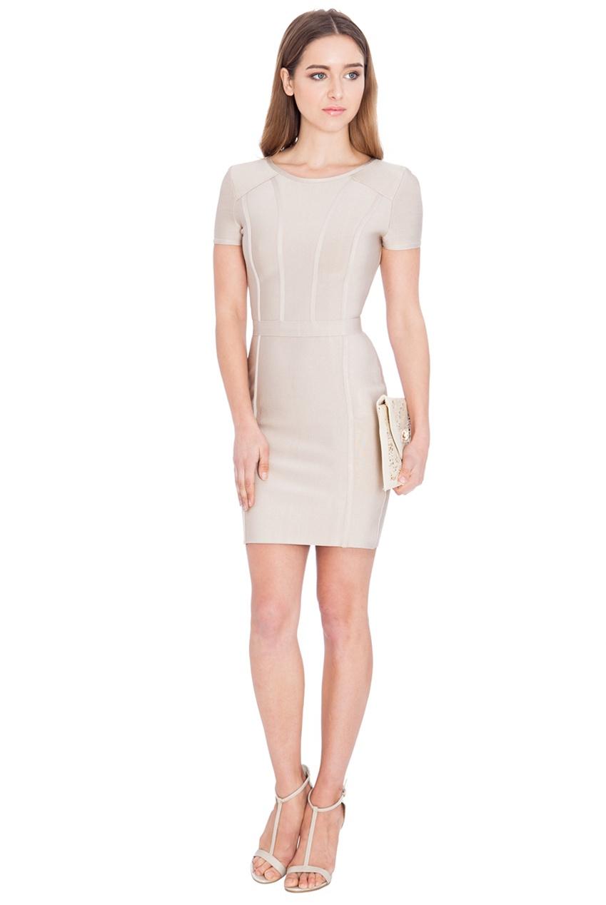Nude, bandage style short dress