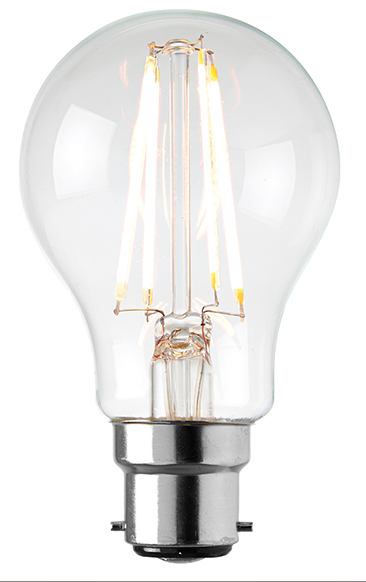 B22 LED filament GLS 6.2W warm white accessory - clear glass