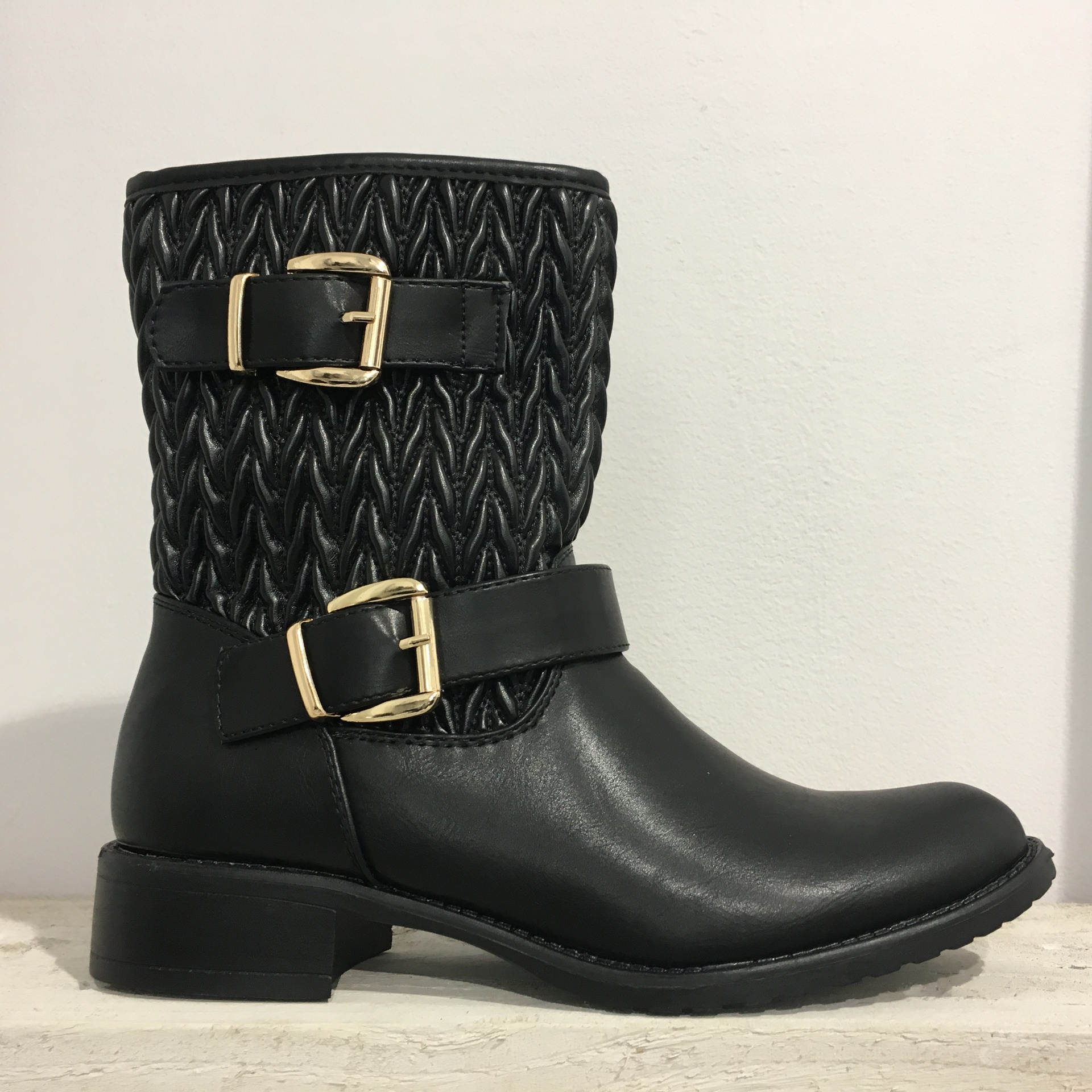 Quilted Biker boots F82166