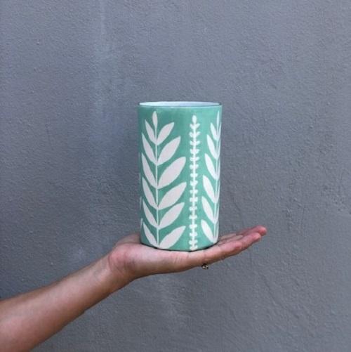 Sprout #6 Cylinder Vase | Aqua