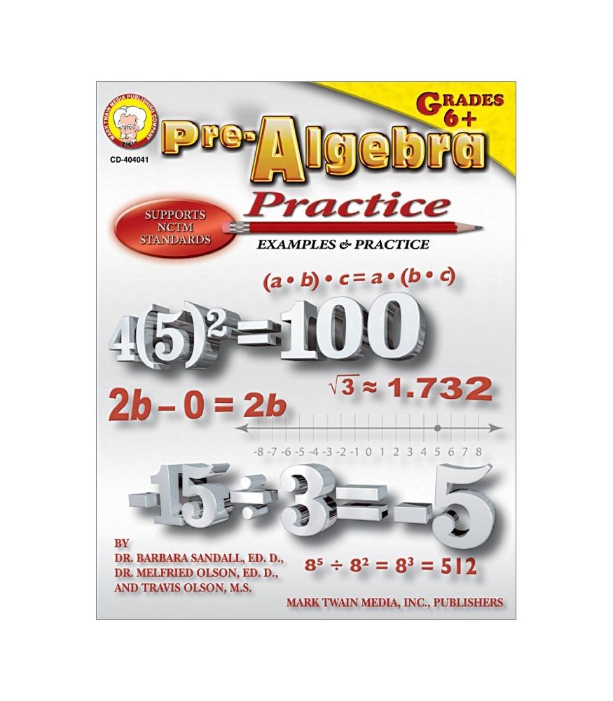 CD 404041 PRE-ALGEBRA PRACTICE MIDDLE / UPPER GRADES BOOK