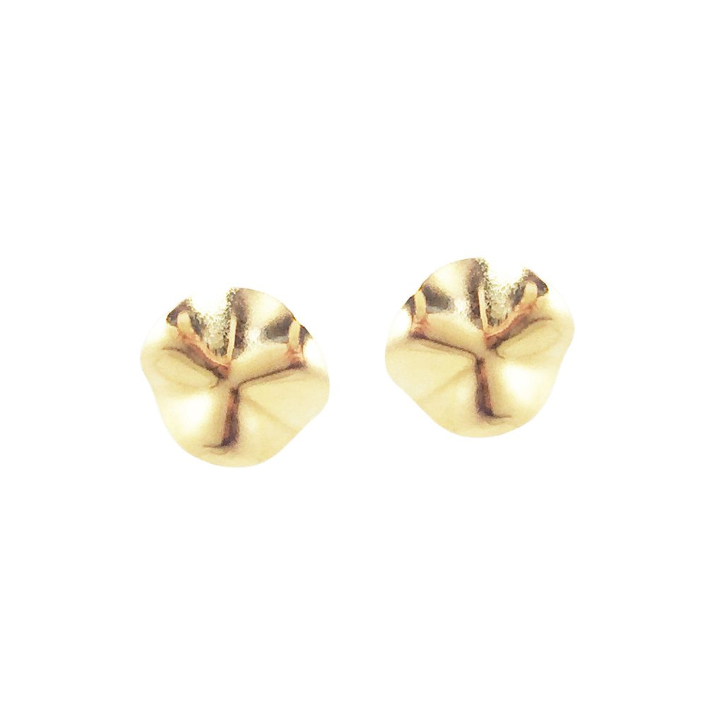 BIKO - WAVE STUDS IN GOLD