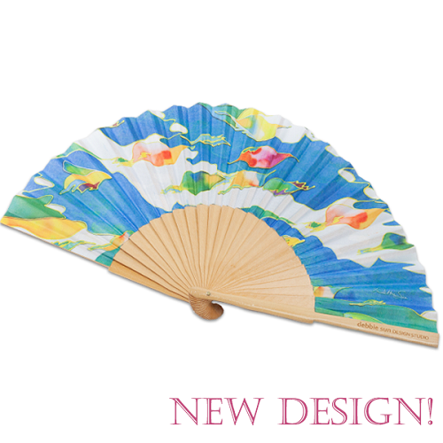 Hand Fan | Birds of Paradise