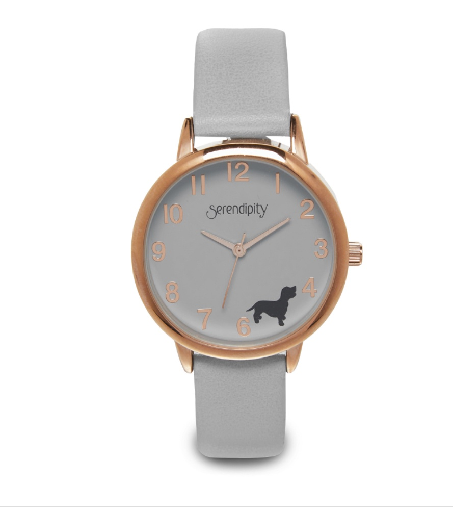 Ladies Dog Motif Watch