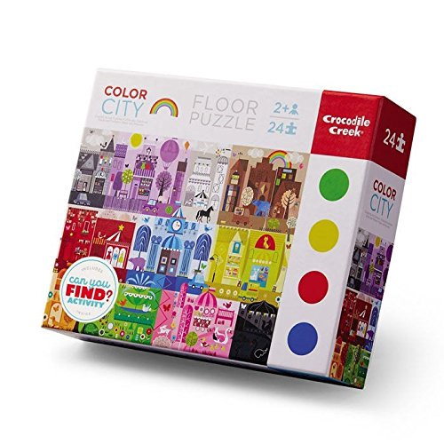 EARLY LEARNING PUZZLE COLOR CITY 24 PCS