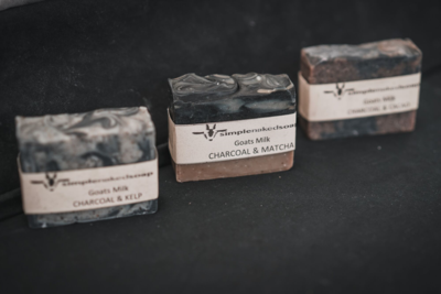 GOATS MILK SOAP - CHARCOAL & MATCHA