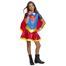 SUPERGIRL HOODED DRESS M 5-7