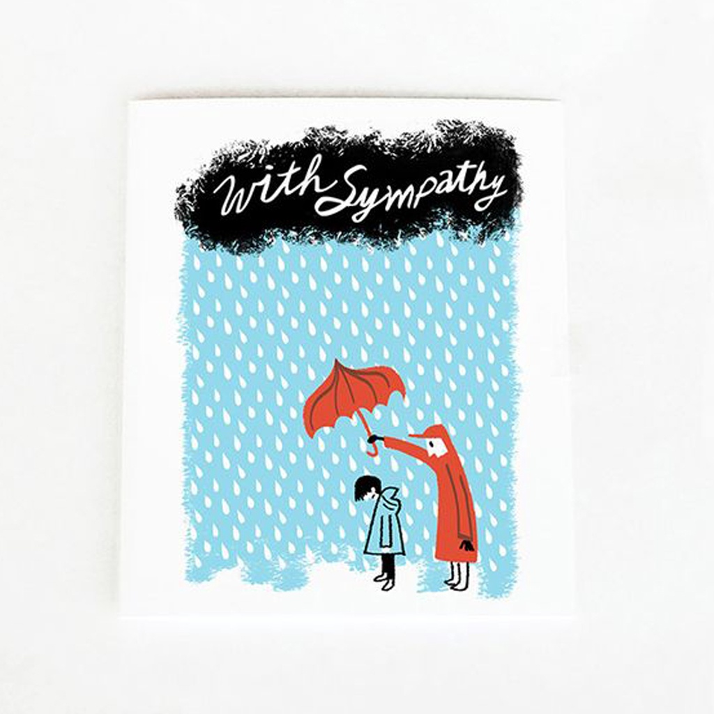 With Sympathy Umbrella Card
