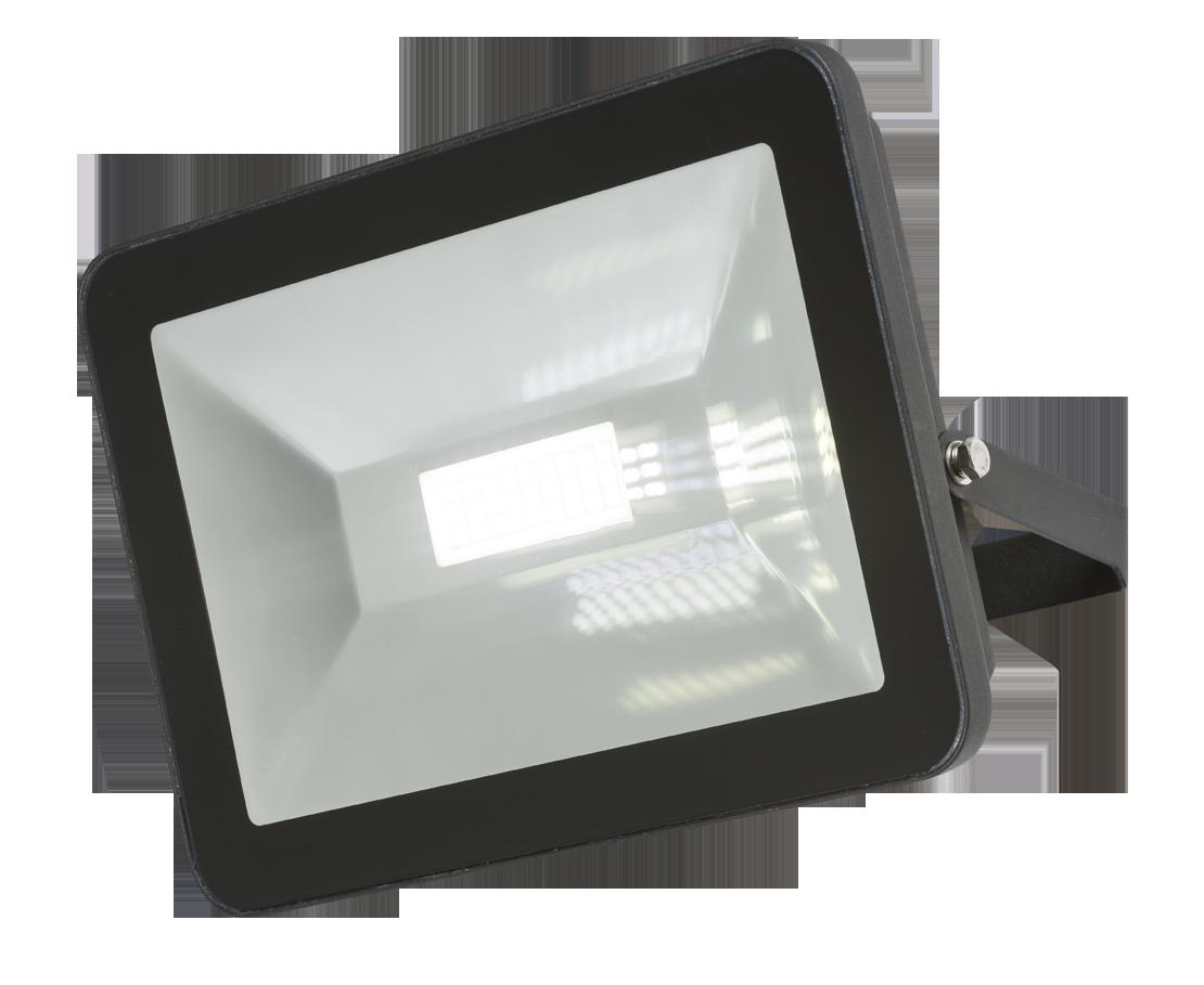 230V IP65 80W LED Black Die-Cast Aluminium Floodlight 4000K