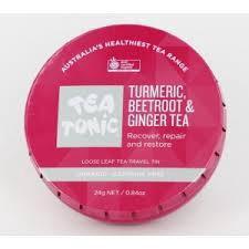 TURMERIC, BEETROOT & GINGER TEA TRAVEL TIN