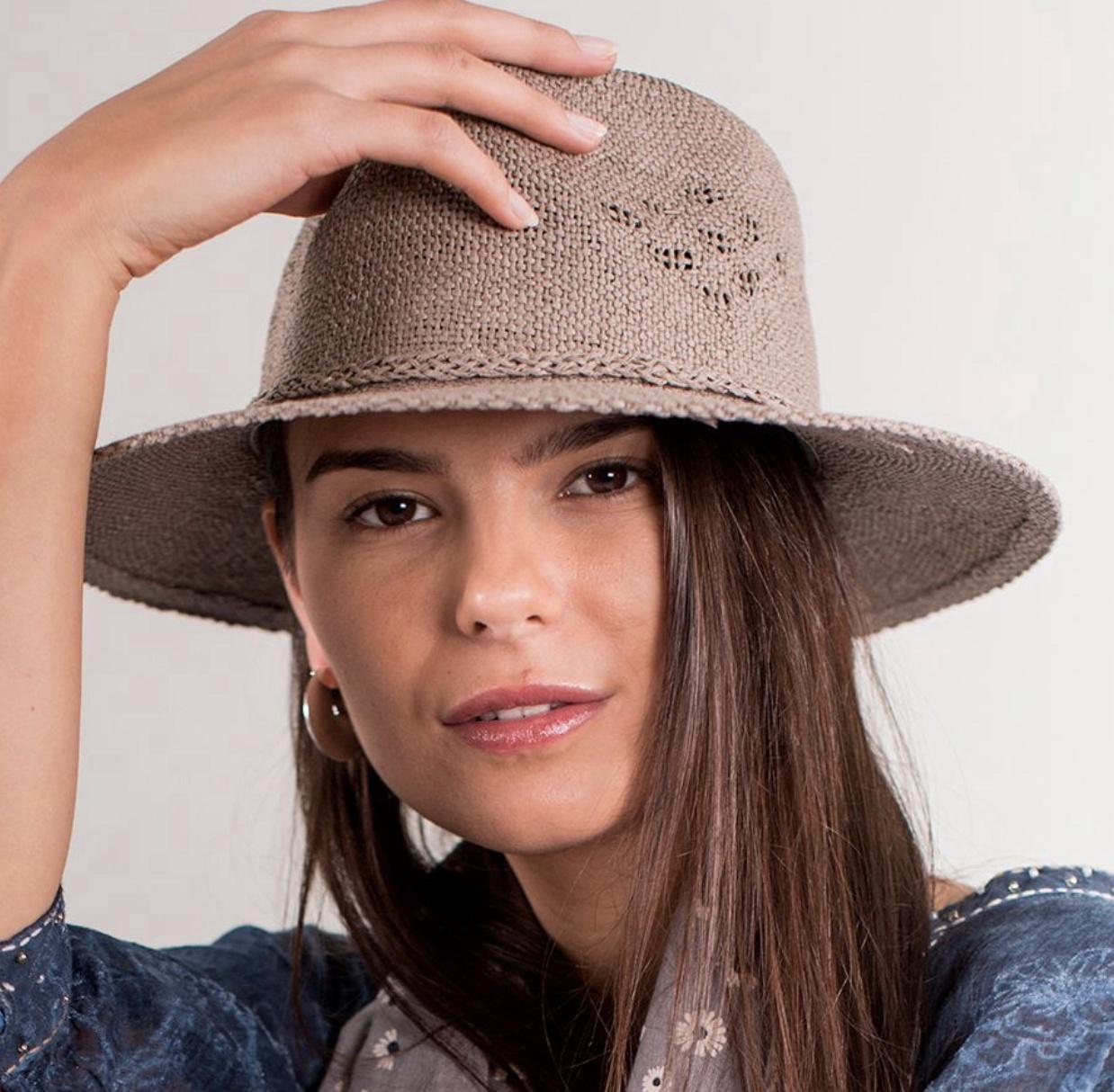 Taupe Fedora Summer Hat