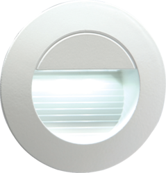 230V RECESSED IP54 ROUND INDOOR/OUTDOOR LED GUIDE/STAIR/WALL LIGHT WHITE LED