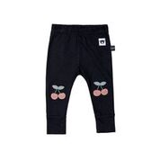 CHERRY PATCH LEGGINGS - BLACK
