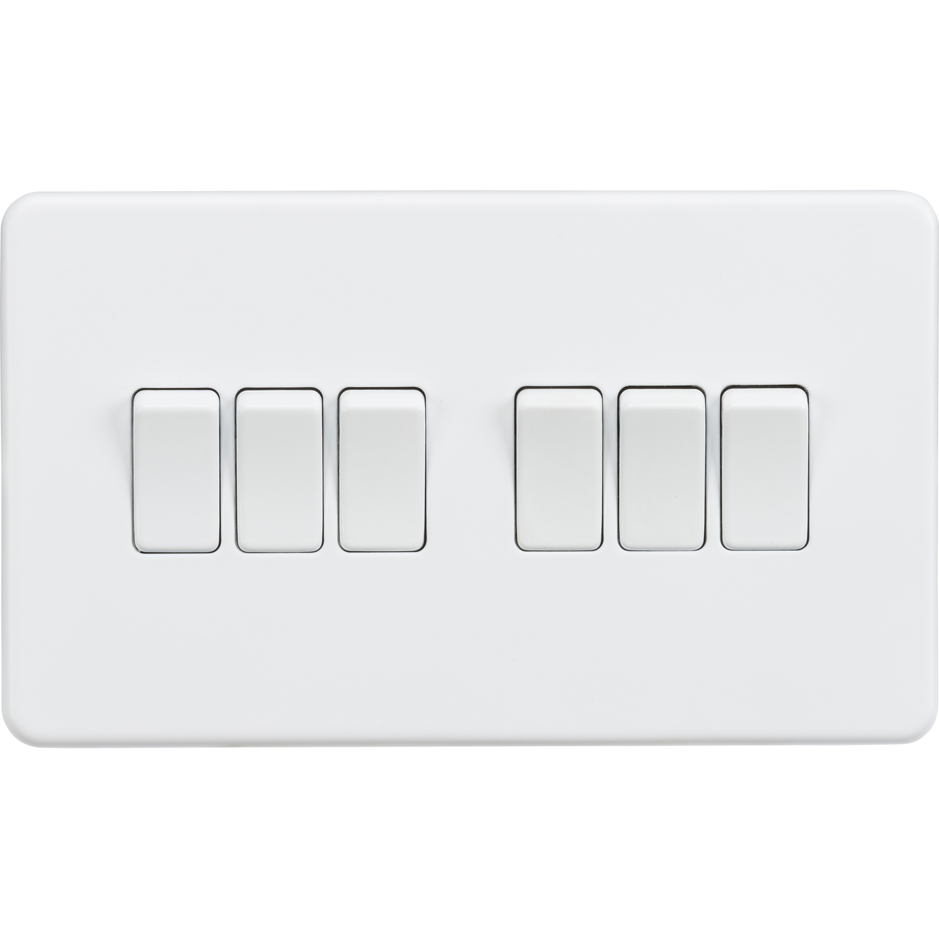 Screwless 10A 6G 2 way switch - Matt white