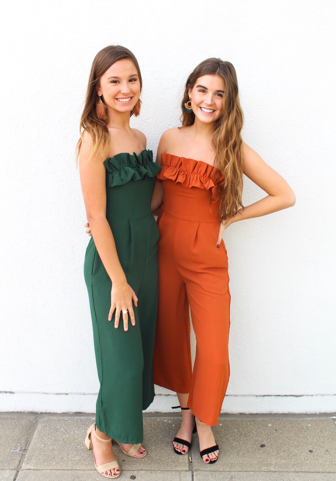 Strapless Ruffle Chest Jumpsuit