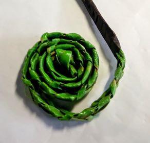 Flax Koru wrapped stem