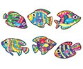 T 63046 FLASHY FISH SPARKLE STICKERS