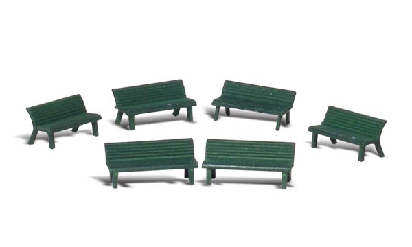 Scenic Accents #A1879 HO Park Benches
