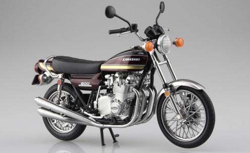 Aoshima #10460 1/12 Kawasaki 900 Super Maroon