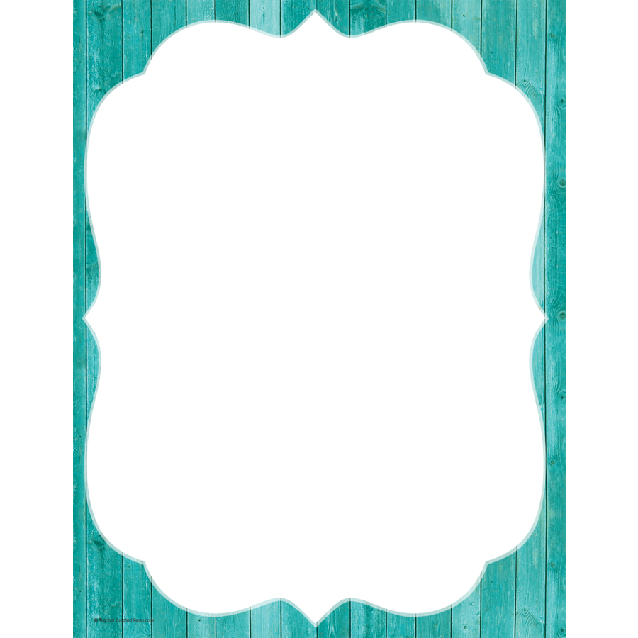 X TCR 77173 SHABBY CHIC GREEN BORDER COMPUTER PAPER