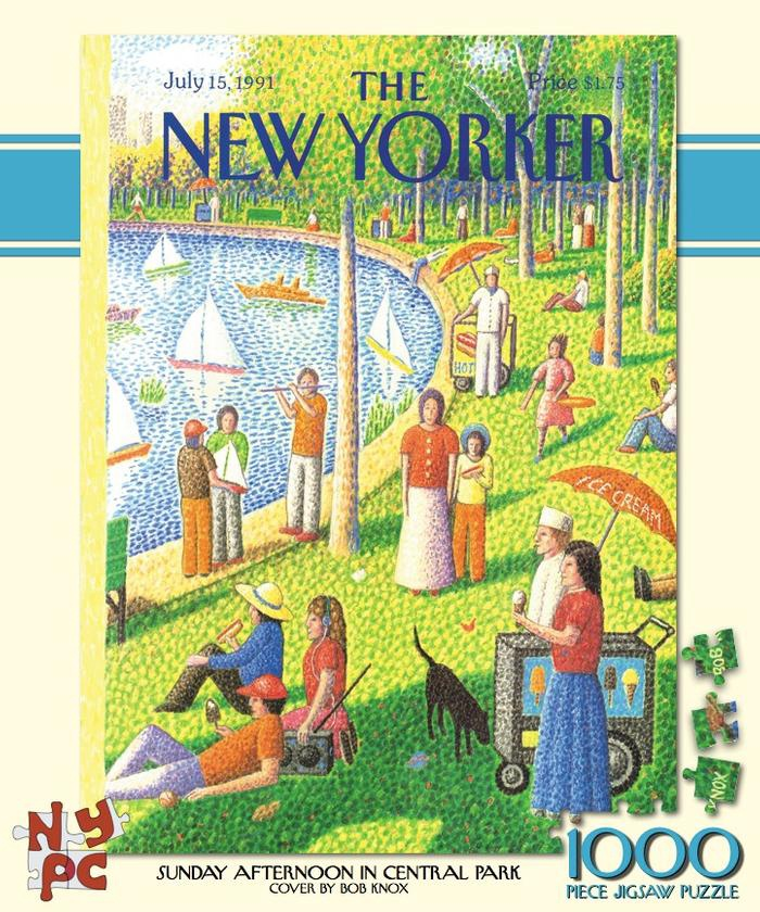 THE NEW YORKER SUNDAY AFTERNOON IN CENTRAL PARK