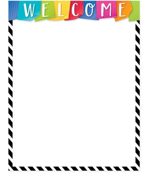 CTP 2846 BOLD & BRIGHT WELCOME CHART