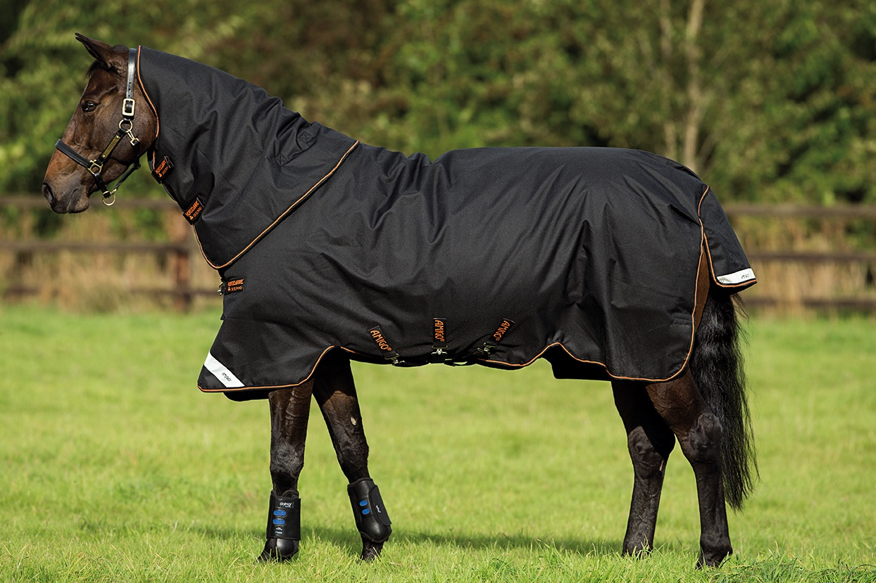 Horseware Amigo Bravo 12 Plus 250g Black with Black and Orange