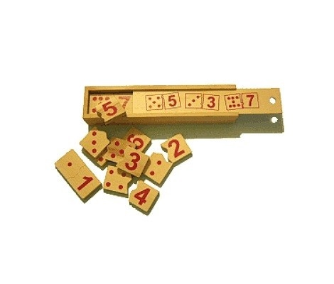 Wooden Toy Co Montessori Jigsaw Dominoes