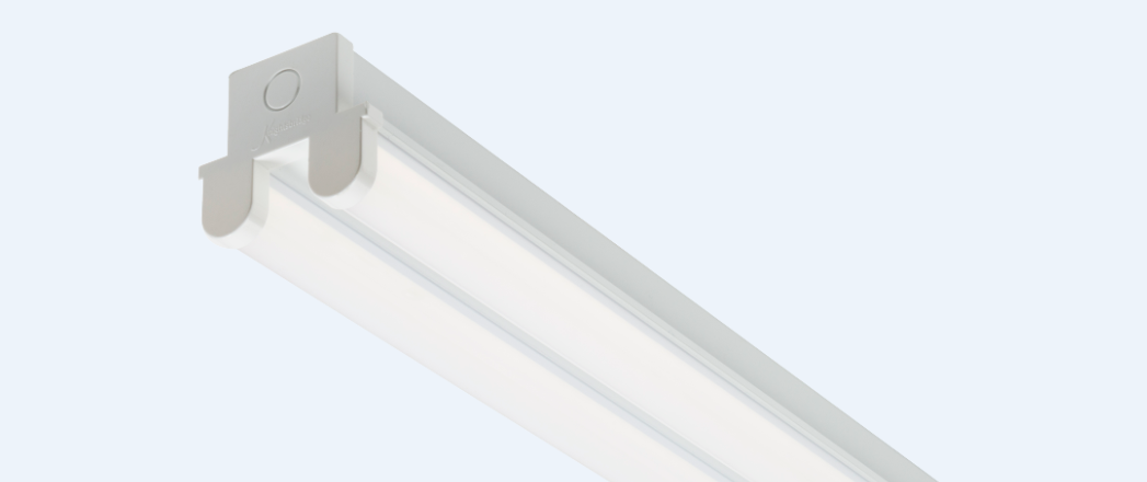 230V 20W Twin LED Batten 615mm (2ft) 4000K