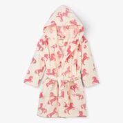 Hatley Playful horses fleece robe