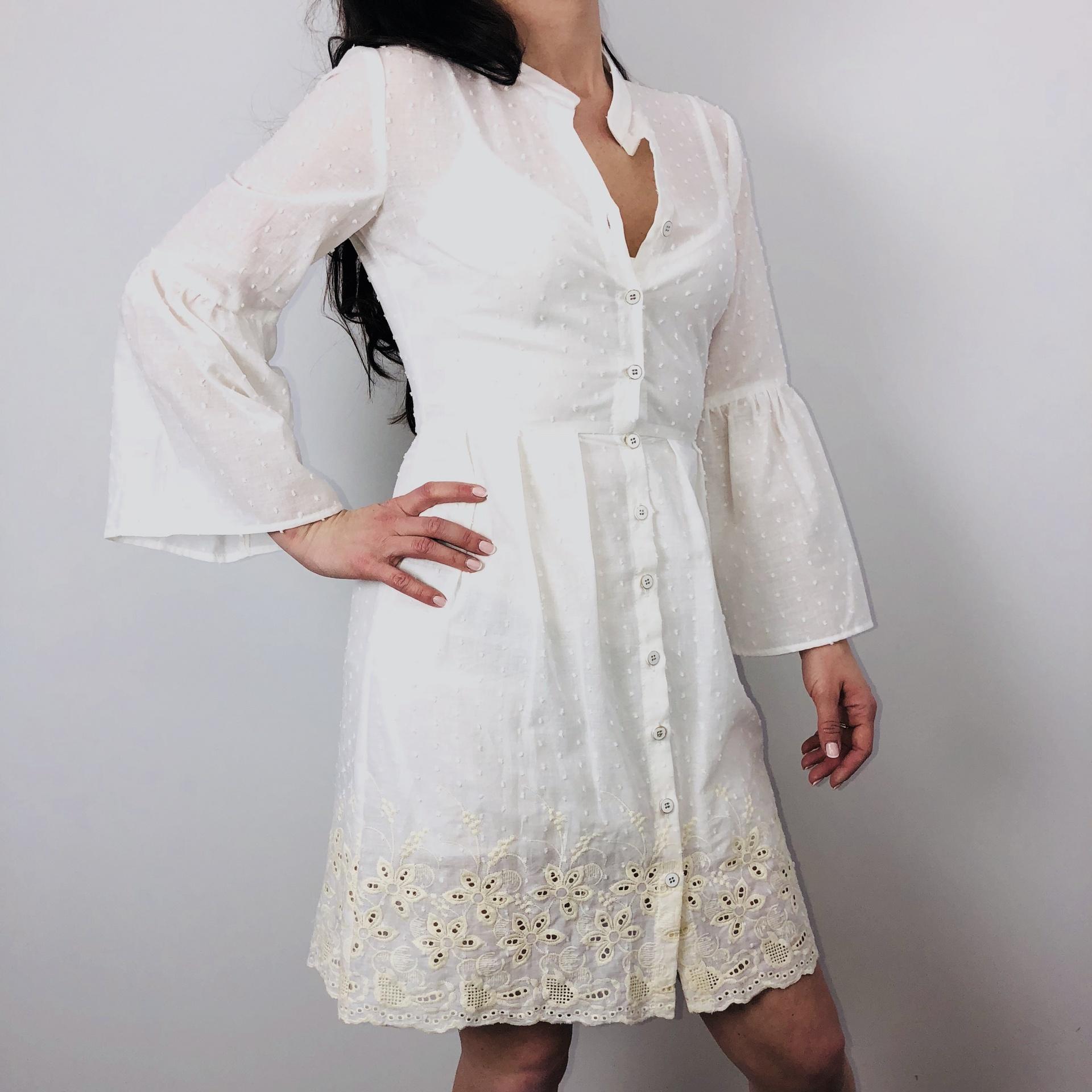 Access Short White Dress 3041