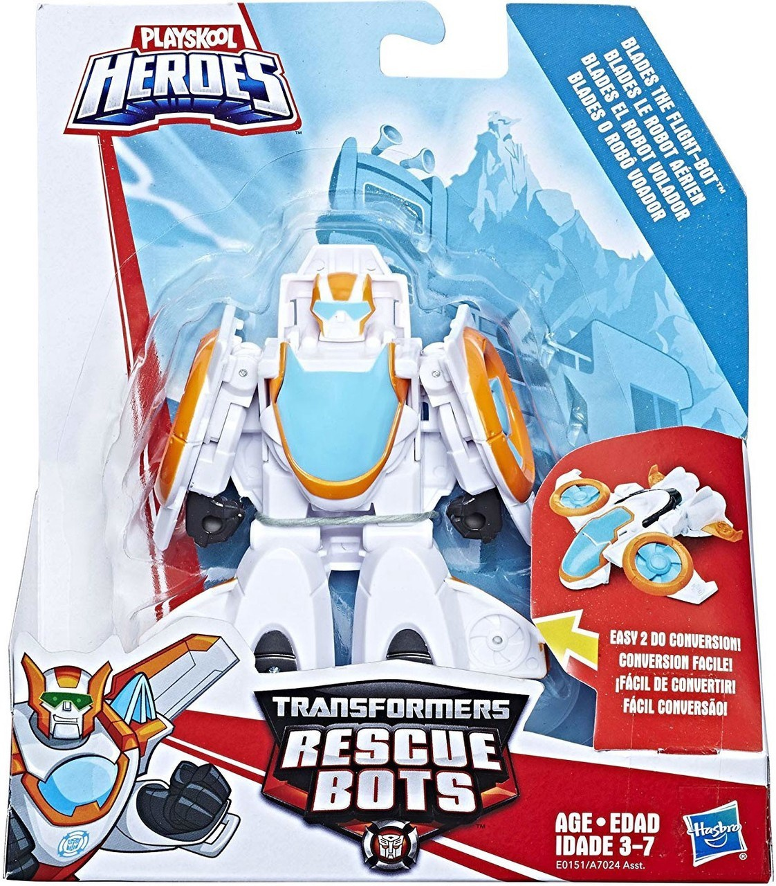 TRANSFORMERS RESCUE BOTS BLADES THE FLIGHT-BOT