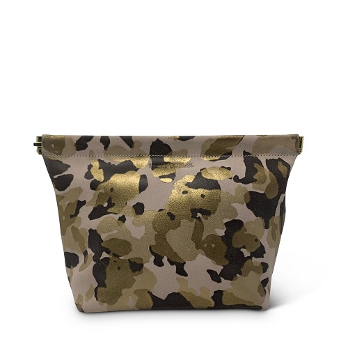 Blush Camo Snap Makeup Bag