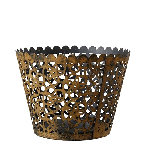 Metal Filigree Pot