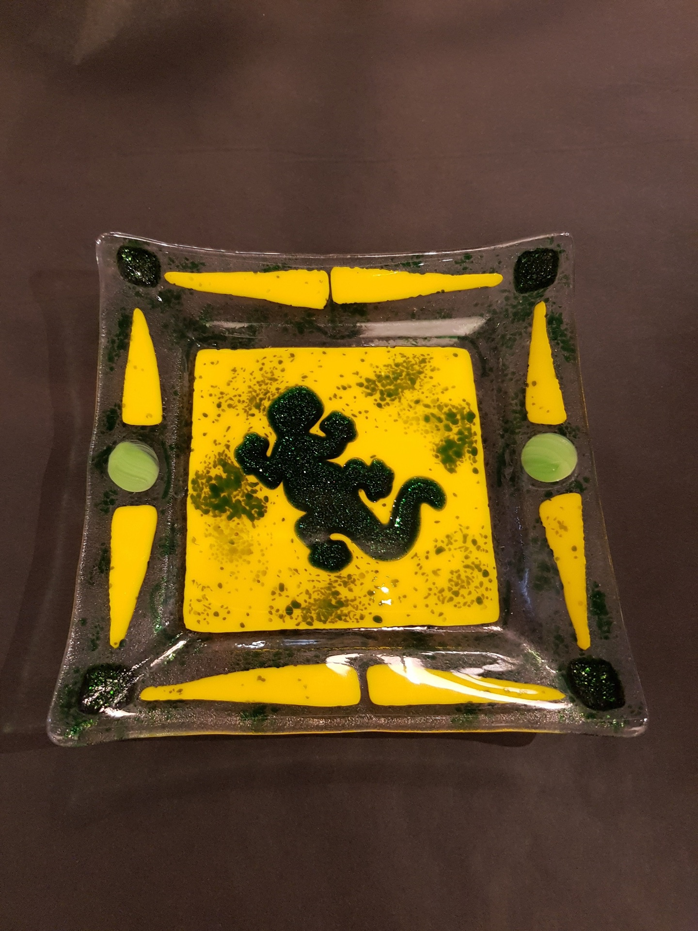 Gecko Glass Plate