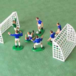 CAKE DECORATION BLUE FOOTBALLE