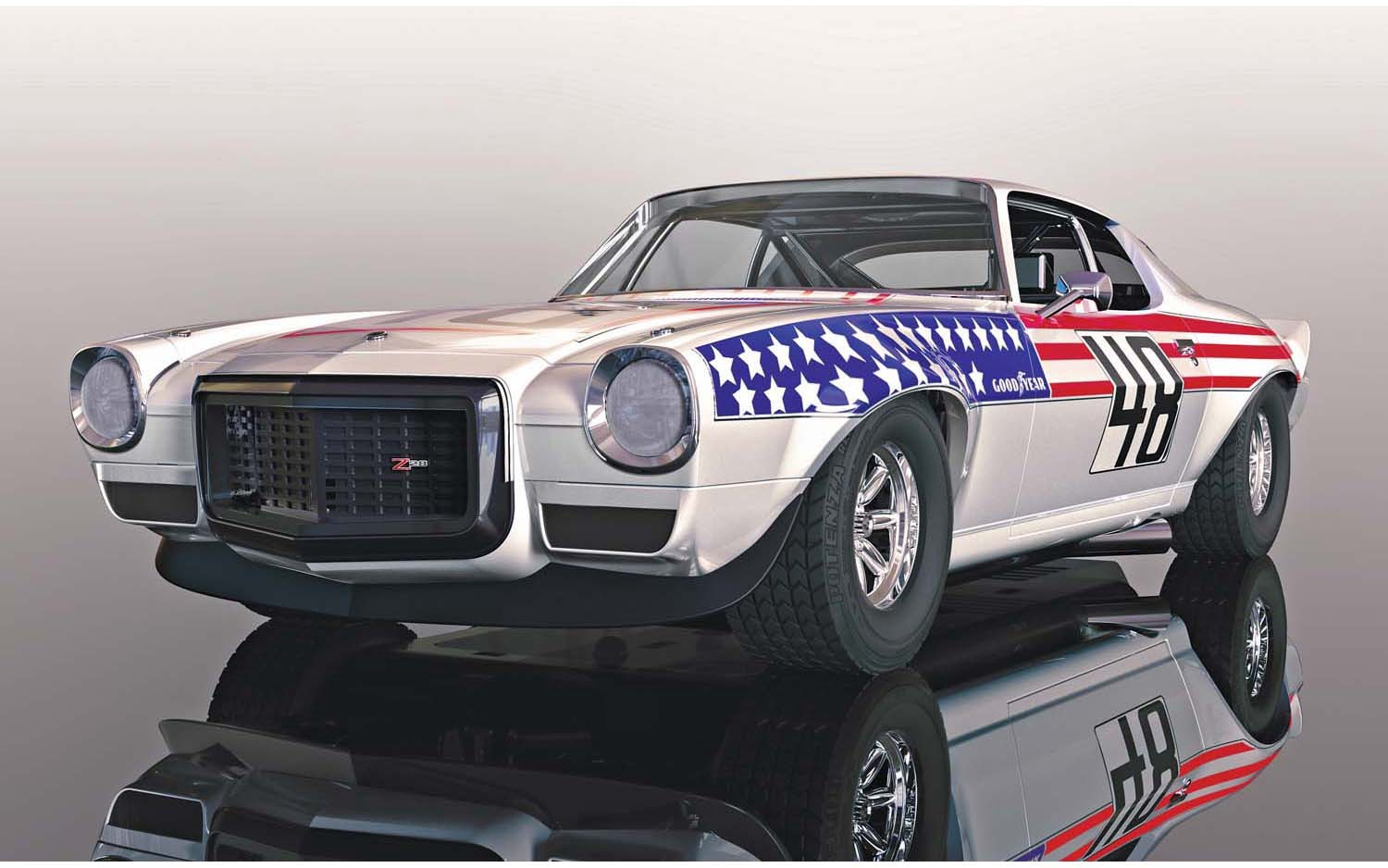 Scalextric #C4043 1/32 1970 Chevrolet Camaro Stars and Stripes