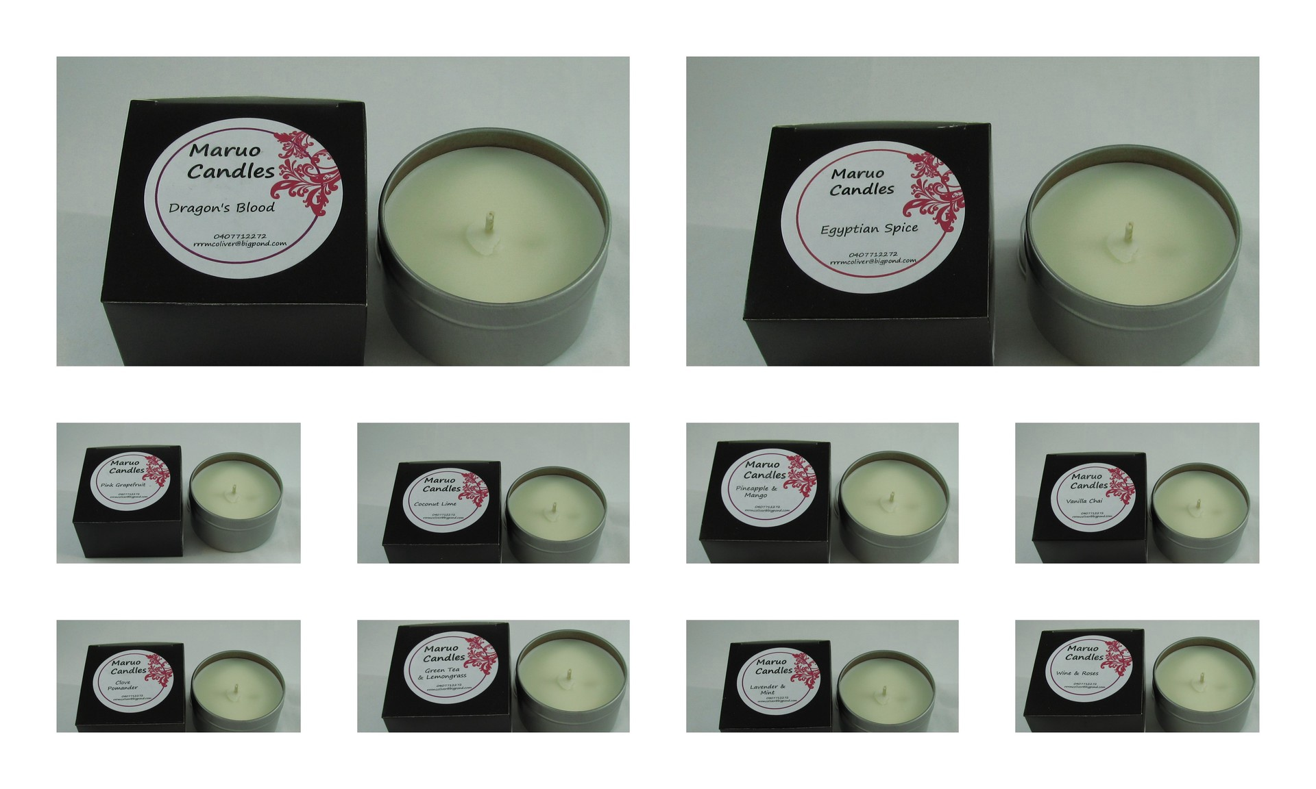 Scented Soy Candle tins