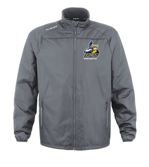 CCM Premium Skate Suit Jacket-VRC Kings Grey-EMBROIDERED CREST
