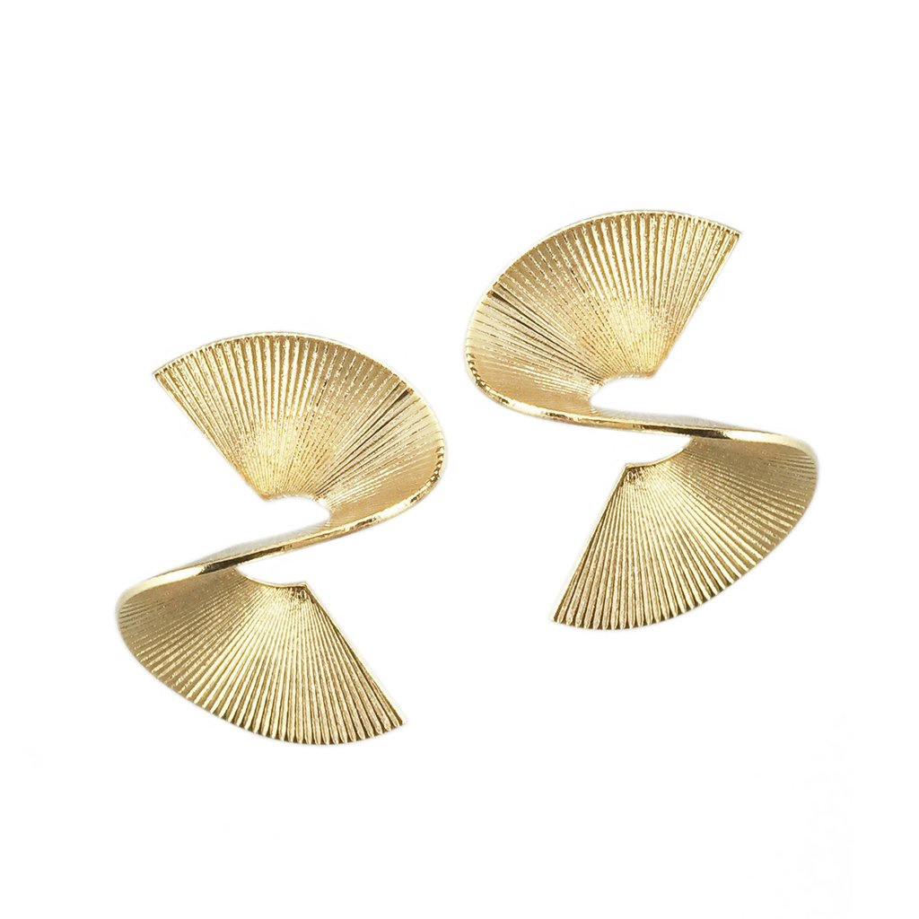 BIKO - SOLARWAVE STUDS SMALL IN GOLD