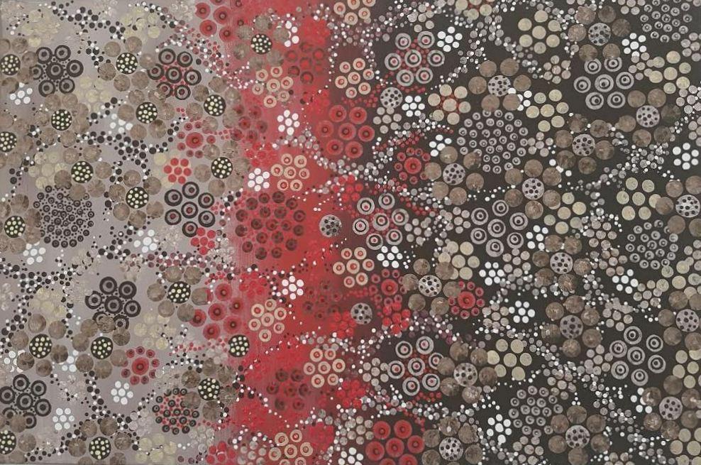 3D dot painting: Desert Flowers