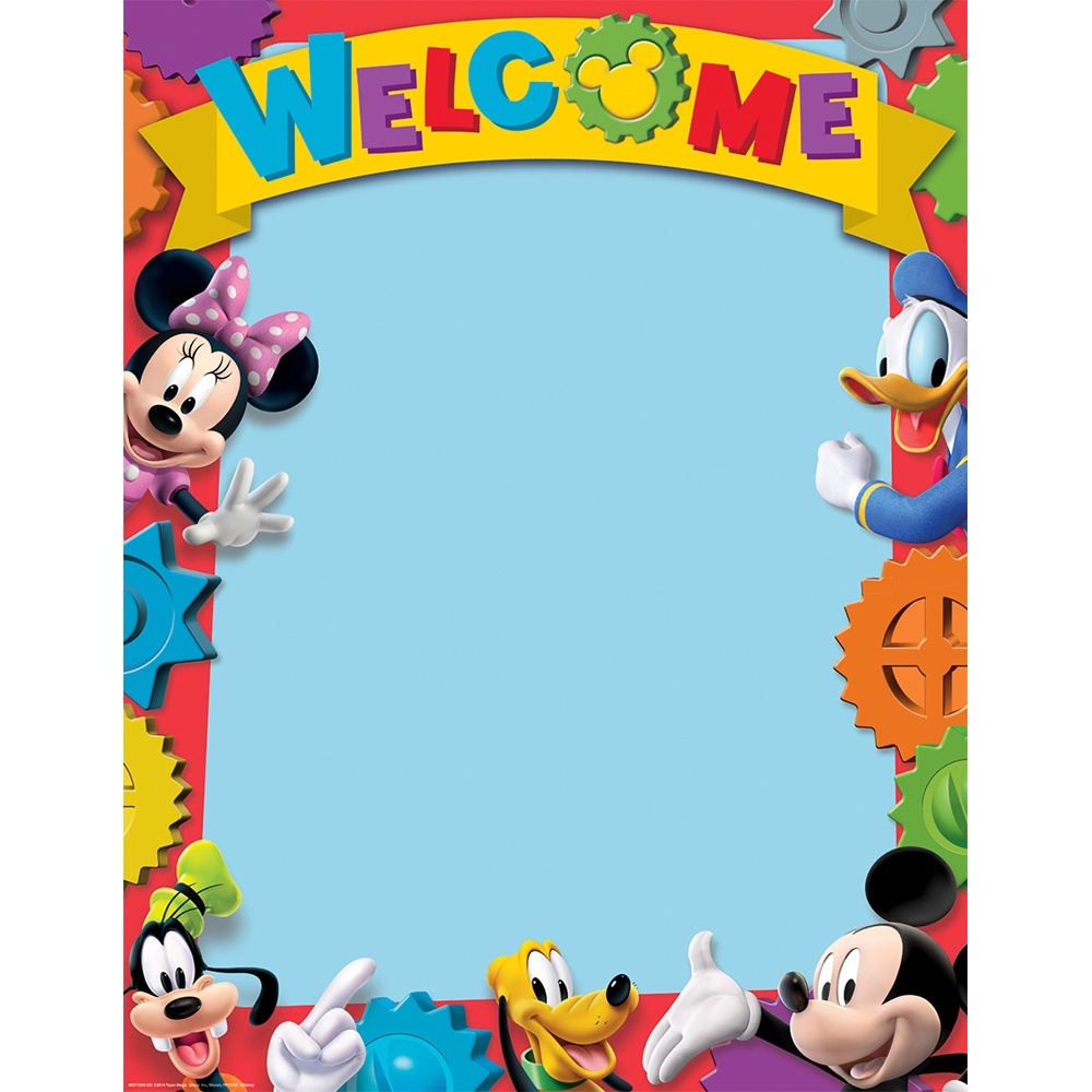 X EU 837156 MICKEY MOUSE CLUBHOUSE WELCOME CHART