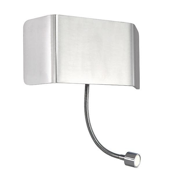 Verona 1lt wall & flexi 7.5W & 1W SW warm white - polished aluminium