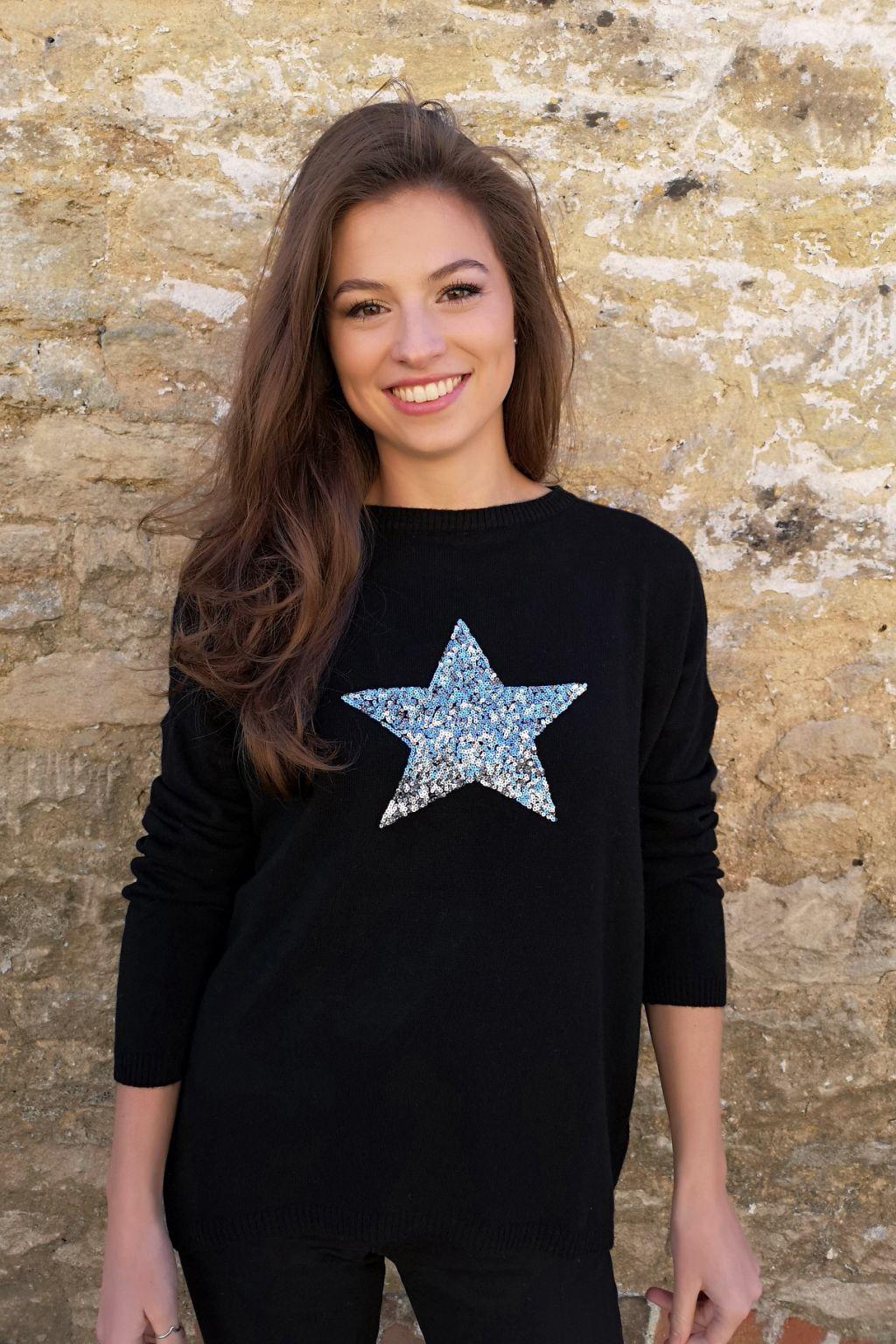 Luella Sequin Star Jumper