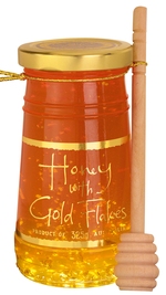 Honey with Gold Flakes With Dipper 325G