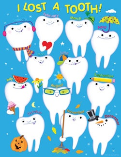 CTP 6429 I LOST A TOOTH CHART